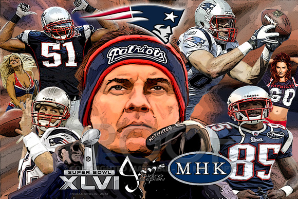 BELICHICK With Superbowl And MHK Logo Added OCHO 12x16